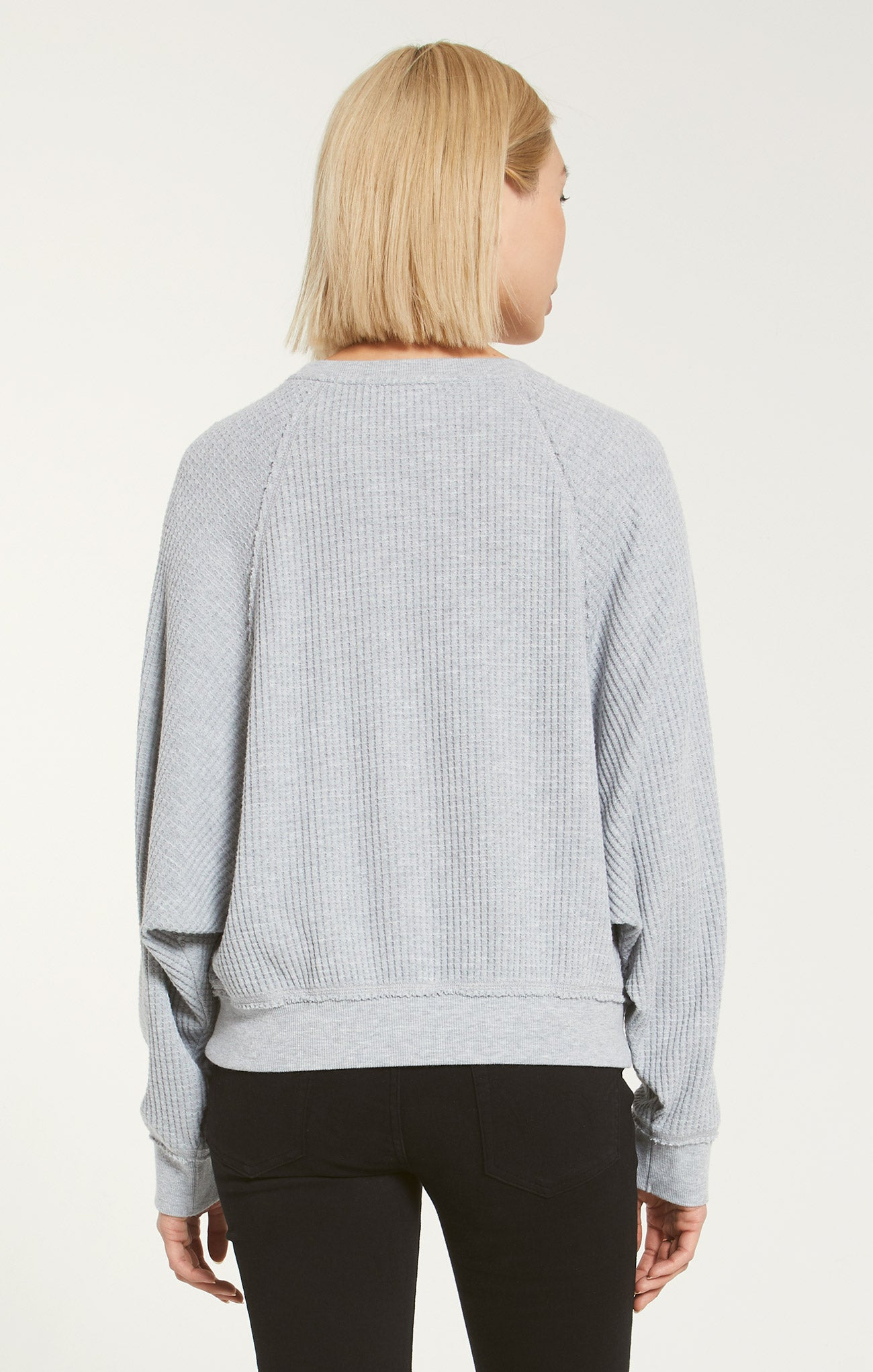 Tops Claire Waffle Long Sleeve Heather Grey
