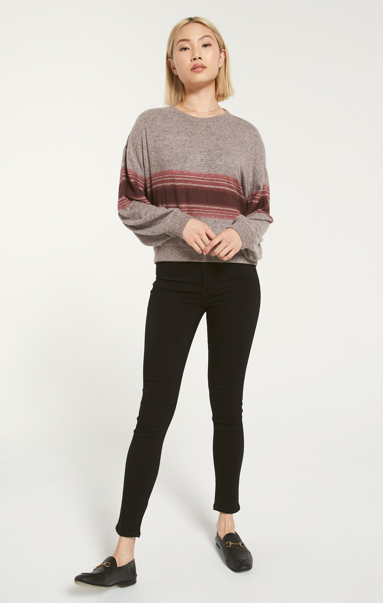 Tops Elle Marled Stripe Long Sleeve Elle Marled Stripe Long Sleeve