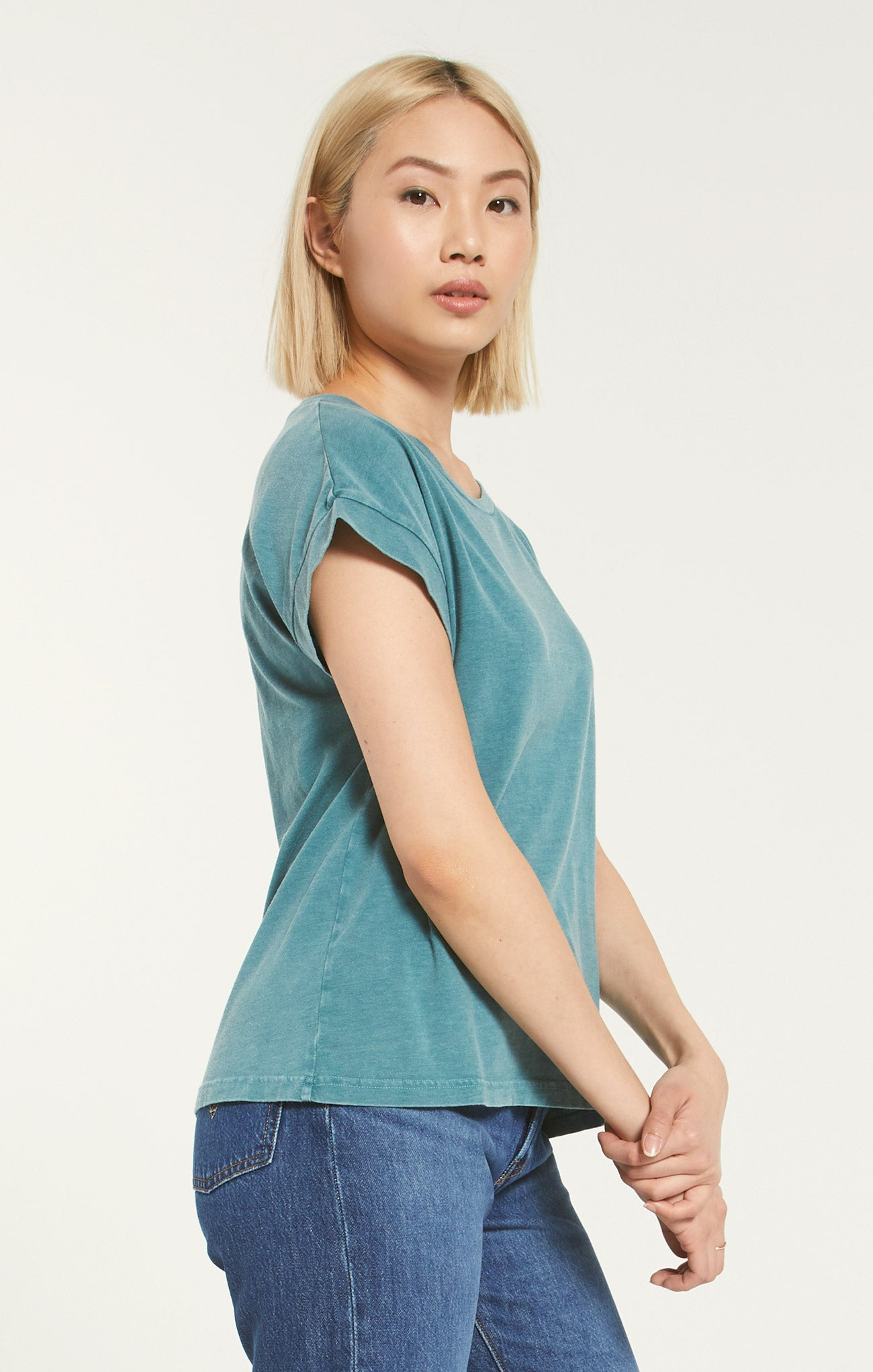 Tops Autumn Jersey Tee Teal