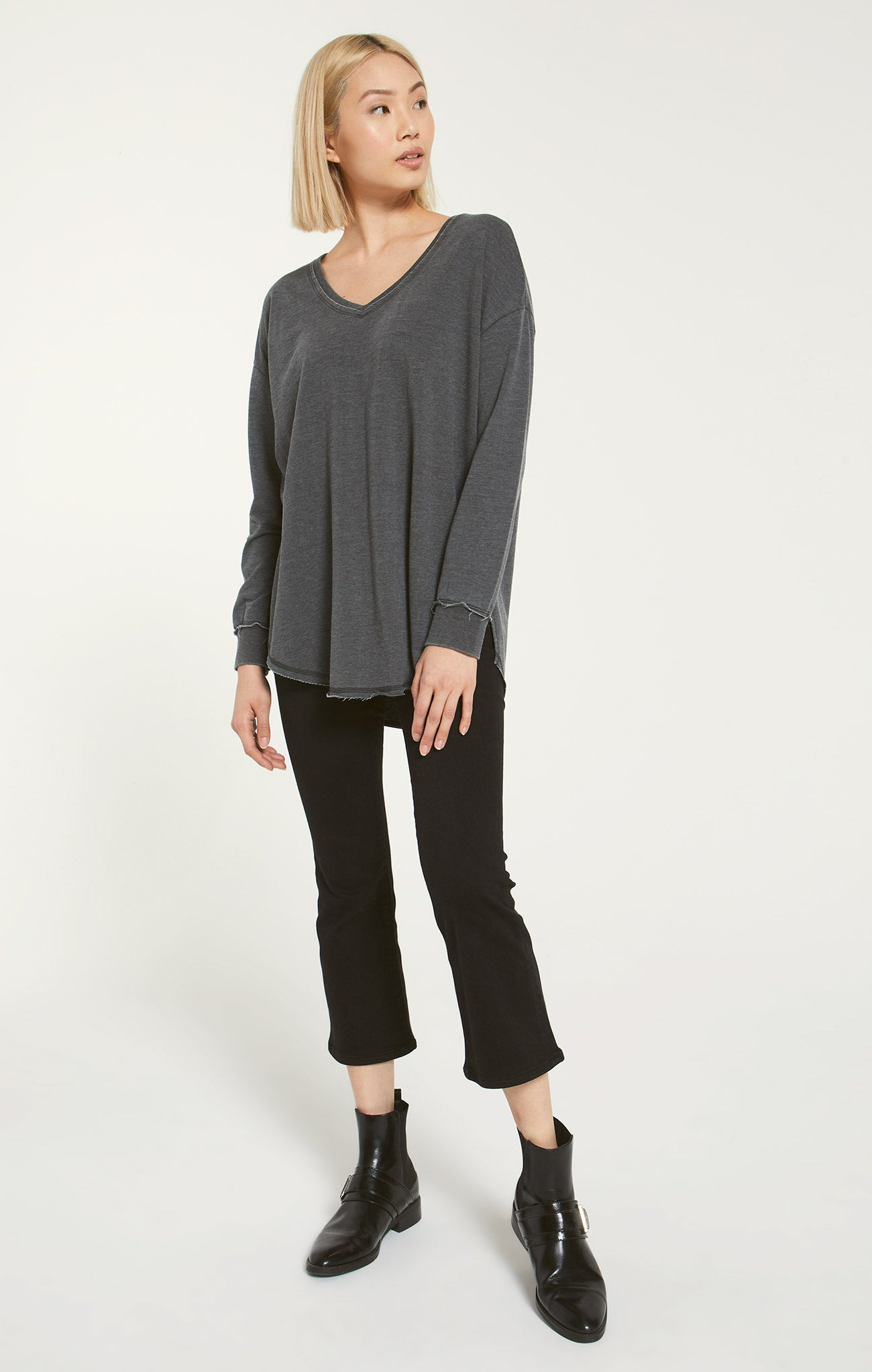 Tops V-Neck Weekender Mineral Grey