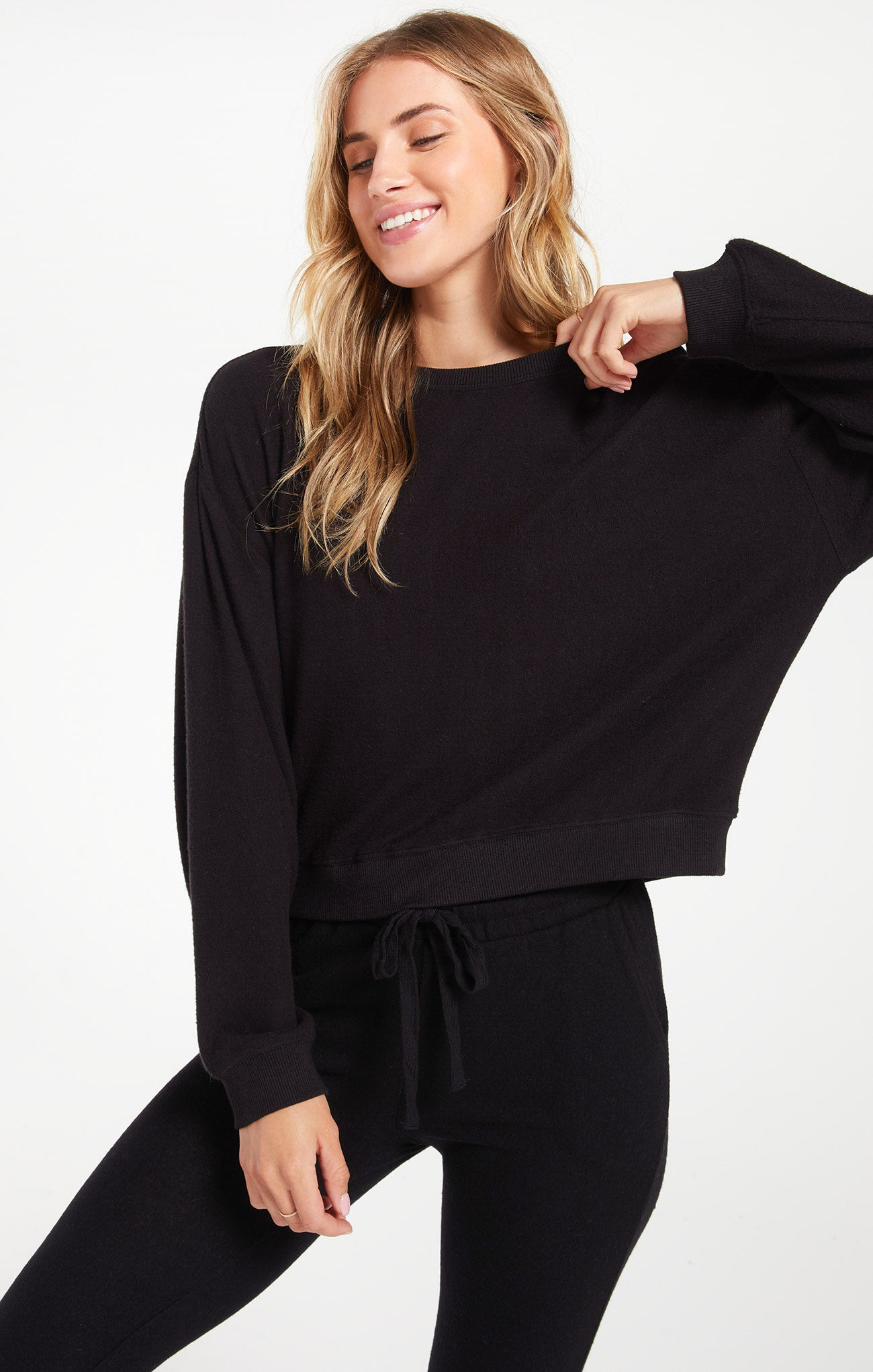 Tops Noa Marled Top Black