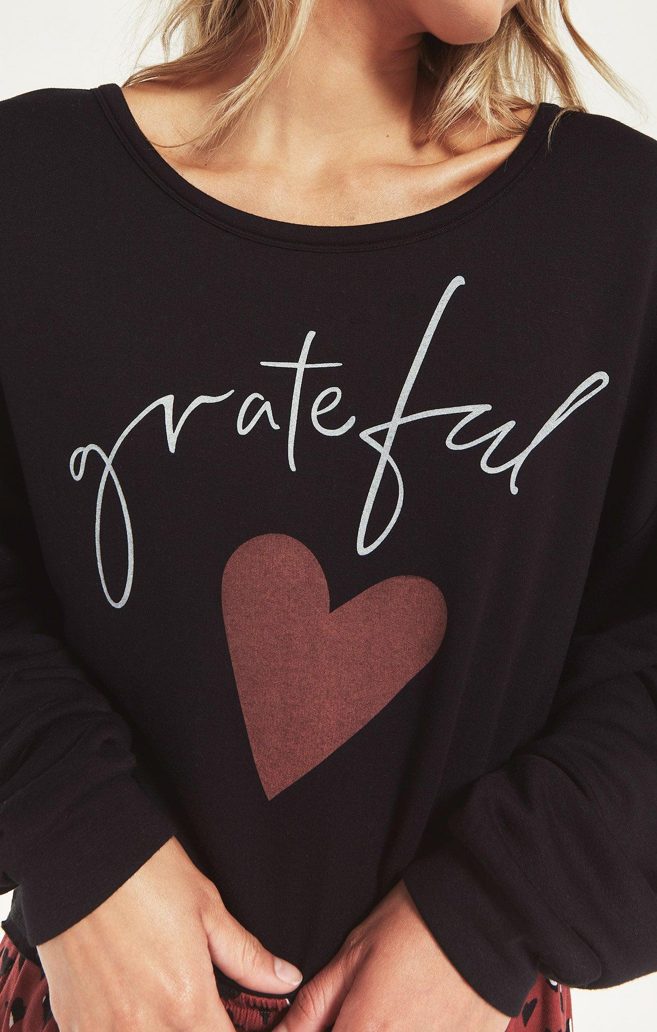 Tops Night Owl Grateful Sweatshirt Black