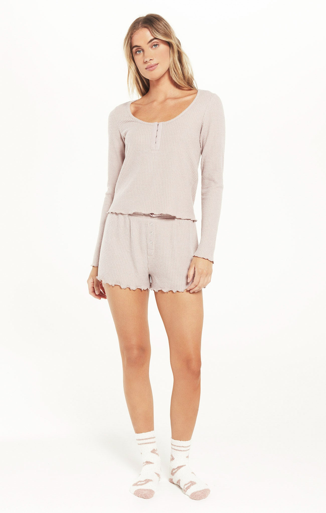 Shorts Frills Thermal Short Dusty Rose