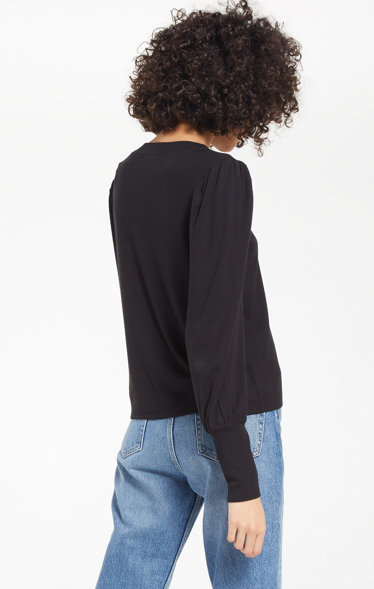 Tops Vada Marled Top Black