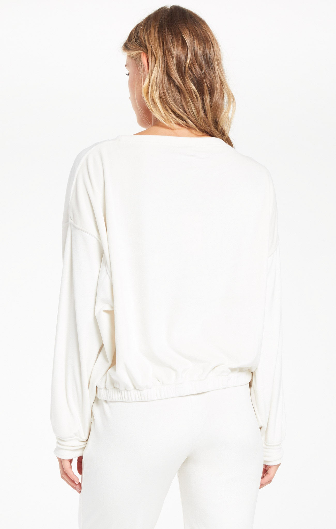 Tops Bodhi Velour Sweatshirt Vanilla Ice