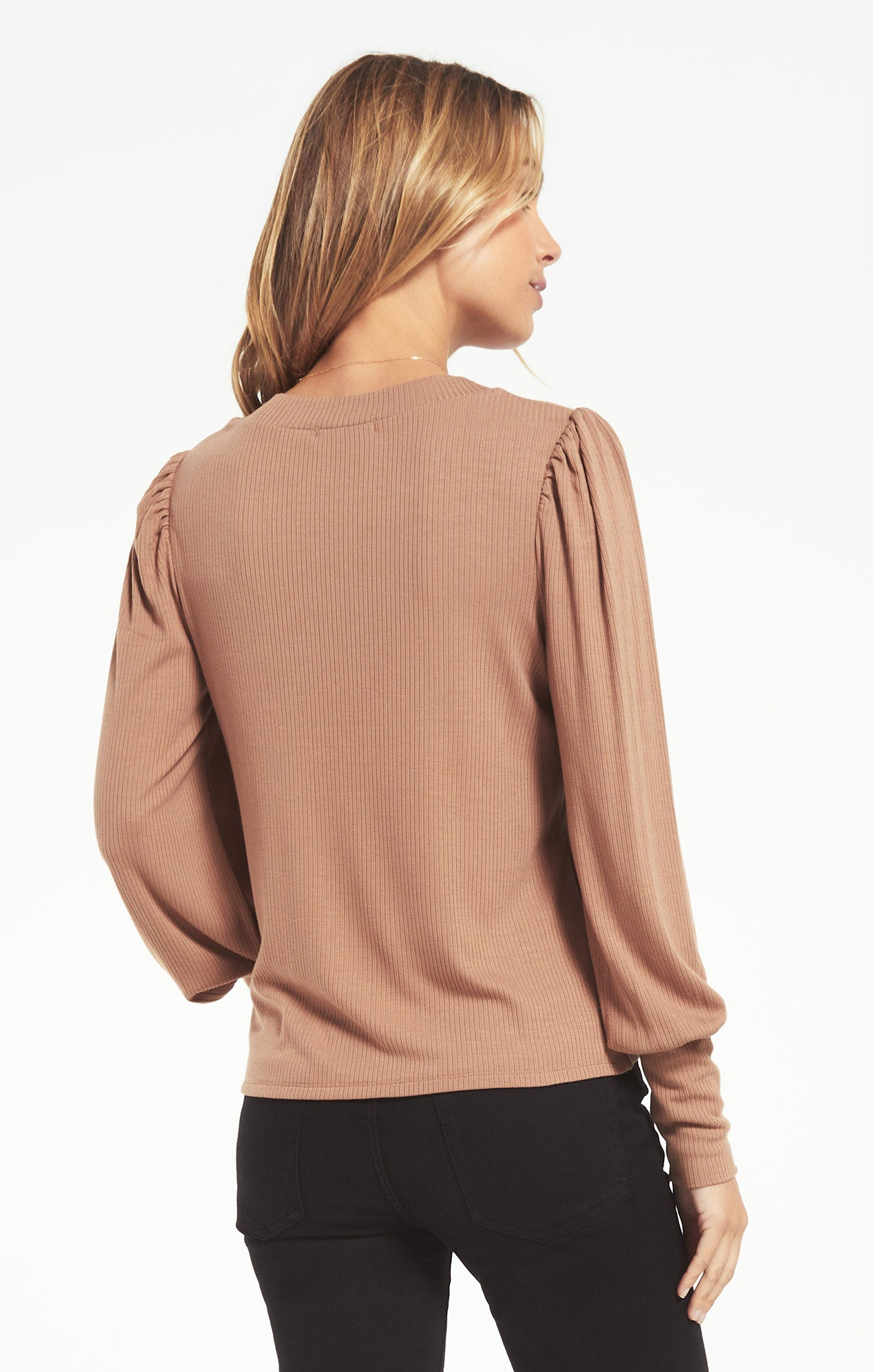 Tops Clemente Puff Sleeve Top Toast