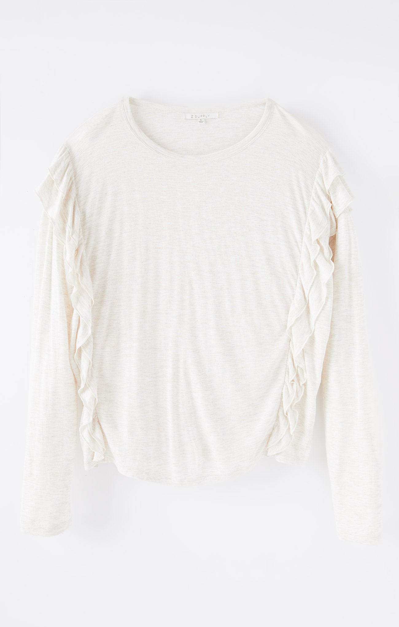 Tops Adele Sparkle Ruffle Top Oatmeal
