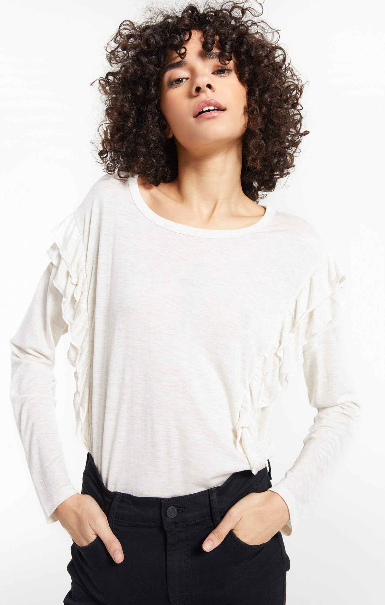 Tops Adele Sparkle Ruffle Top Adele Sparkle Ruffle Top