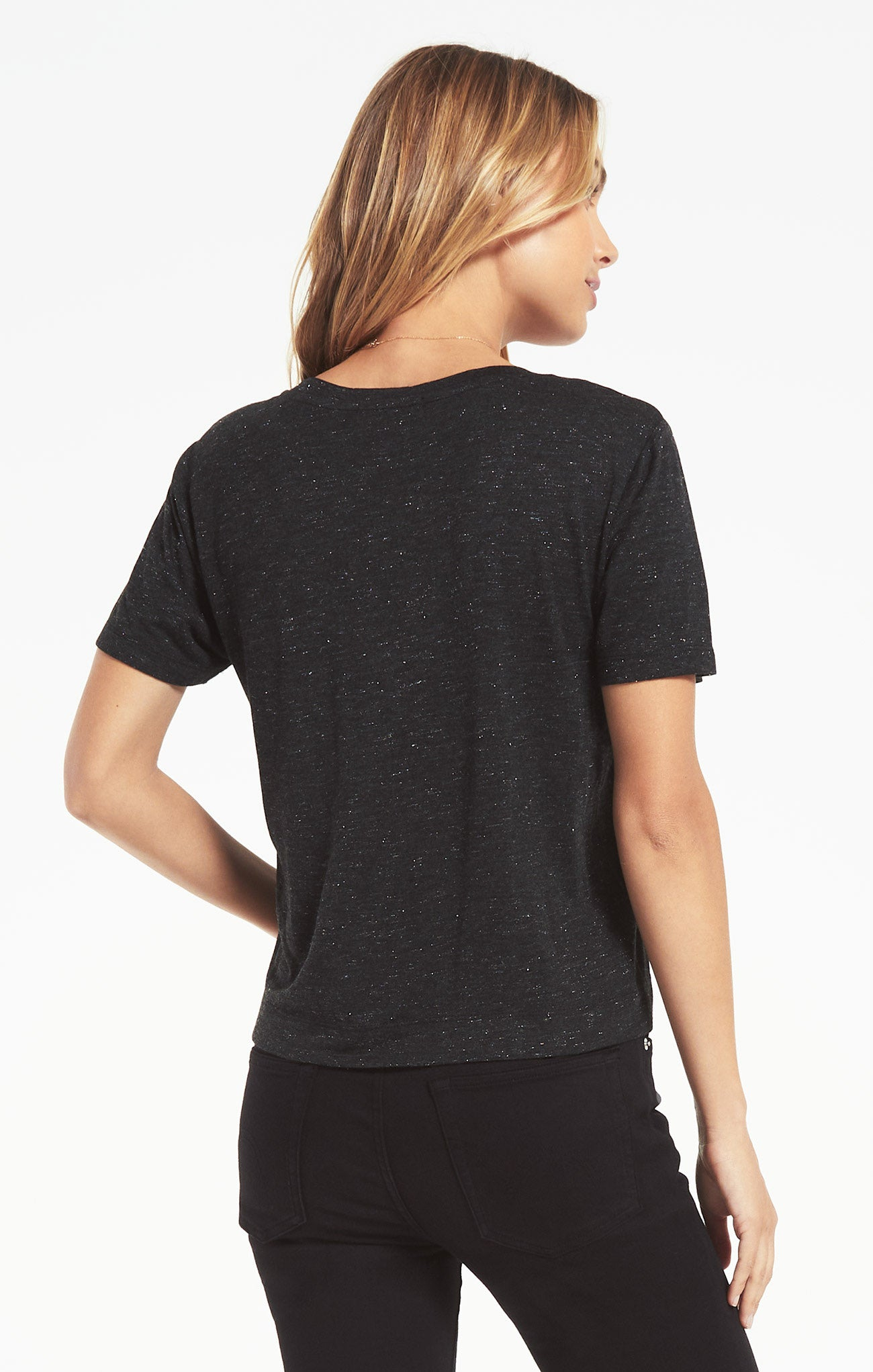 Tops Classic Skimmer Sparkle Tee Black