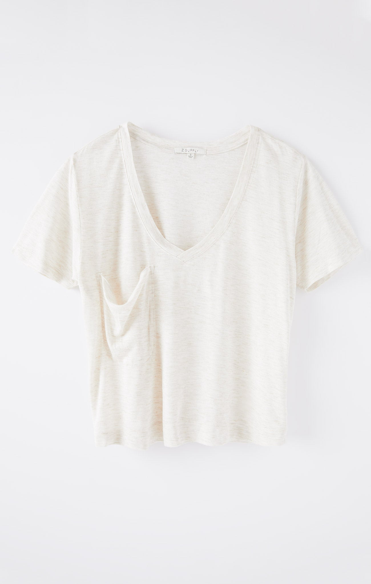 Tops Classic Skimmer Sparkle Tee Oatmeal