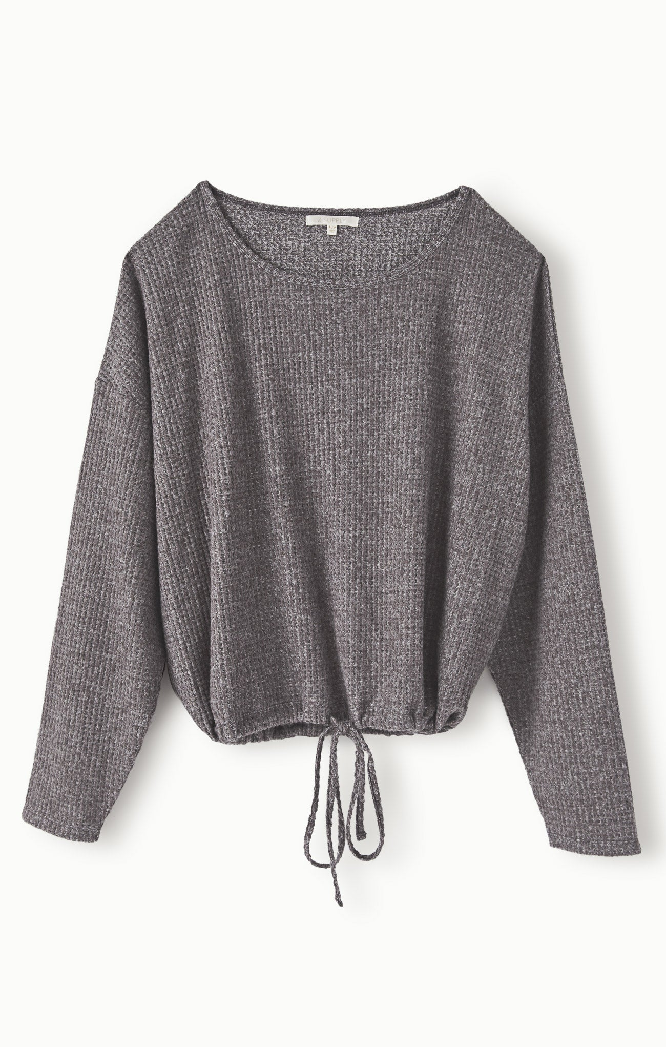 Tops Hang Out Thermal Long Sleeve Charcoal