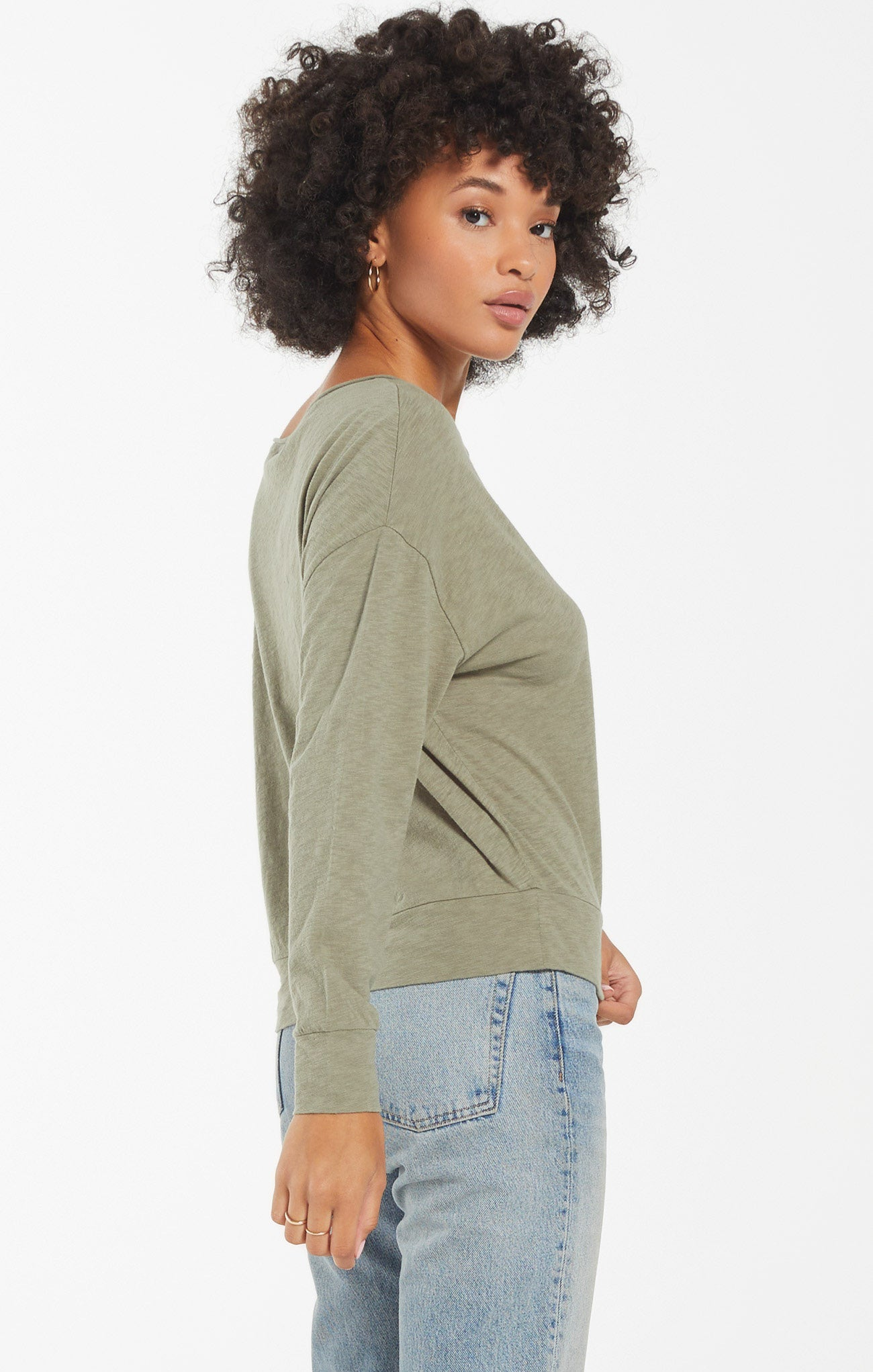Tops Naiser Slub Top Meadow Green
