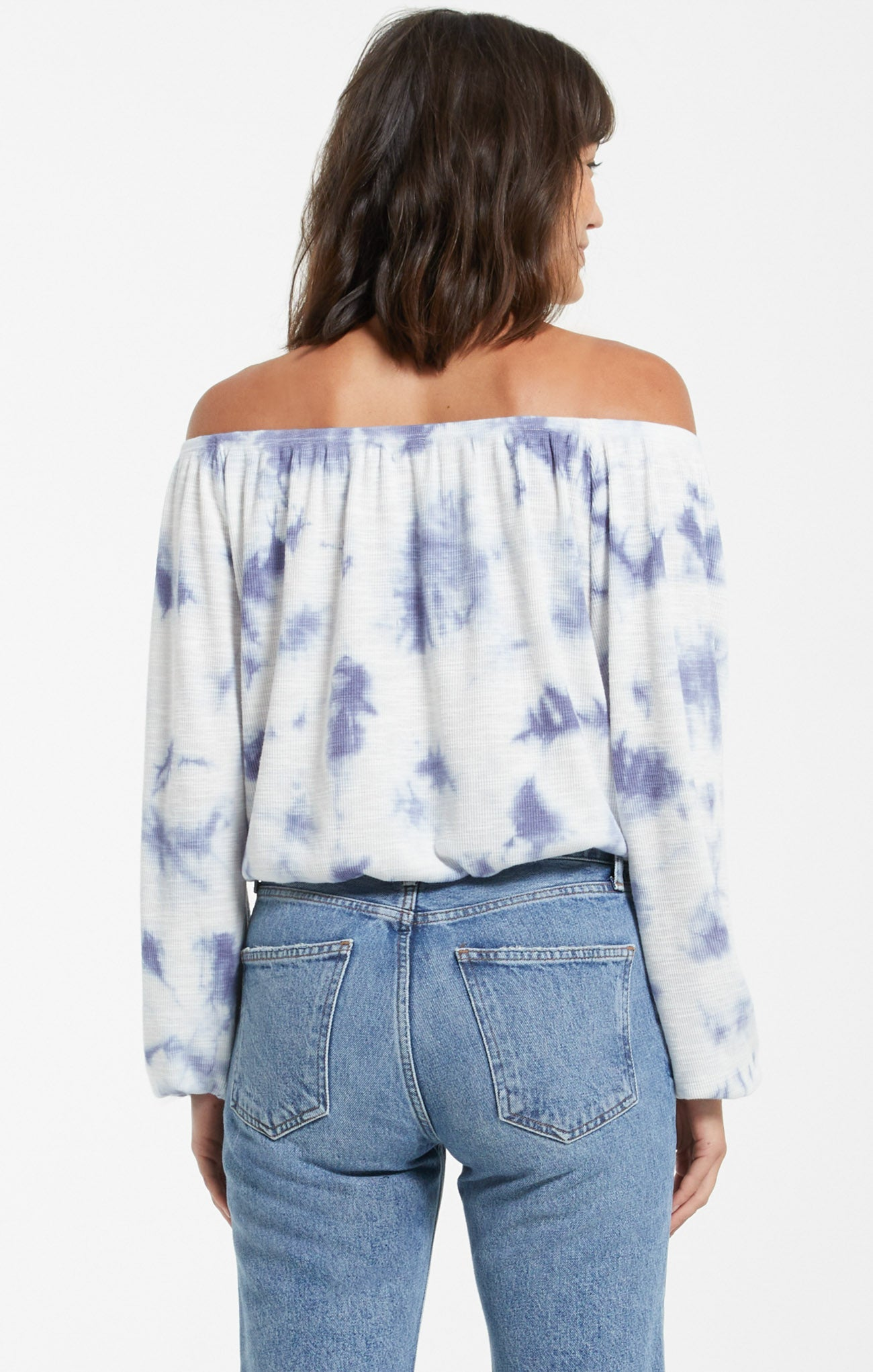 Tops Liv Cloud Tie-Dye Top Dusty Navy