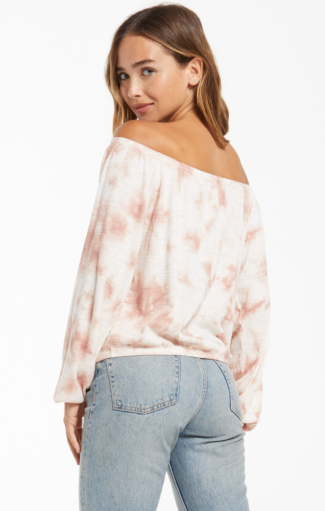 Tops Liv Cloud Tie-Dye Top Rose Mauve