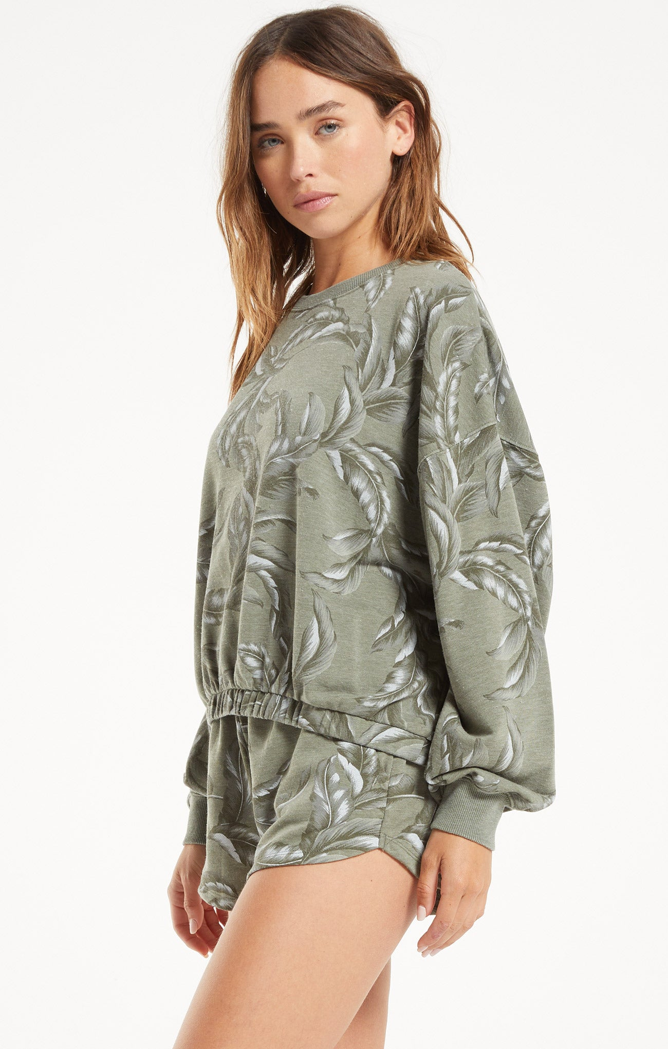 Tops Mason Palm Pullover Agave Green