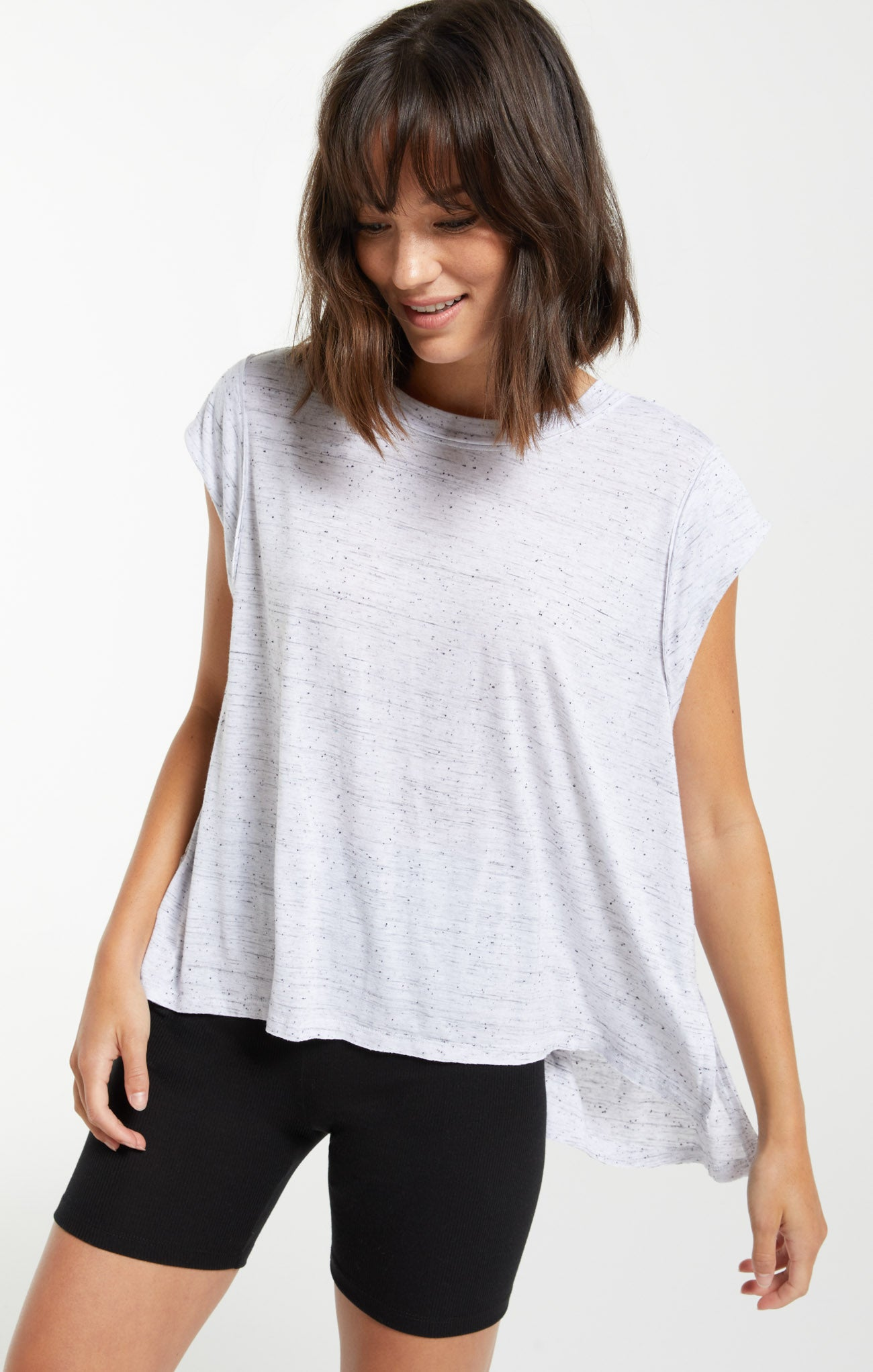 Tops Riley Speckle Tee White