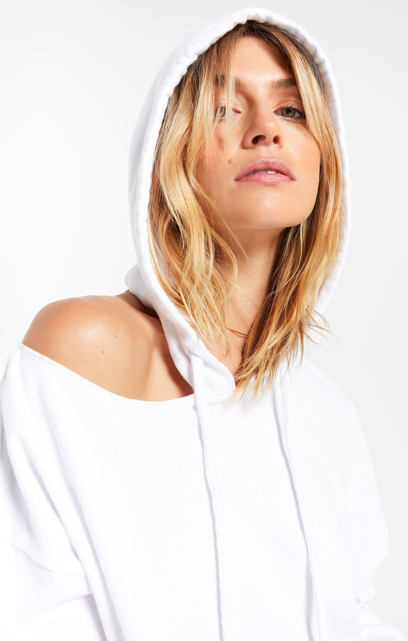 Tops Jerri Cut-Out Terry Sweatshirt White