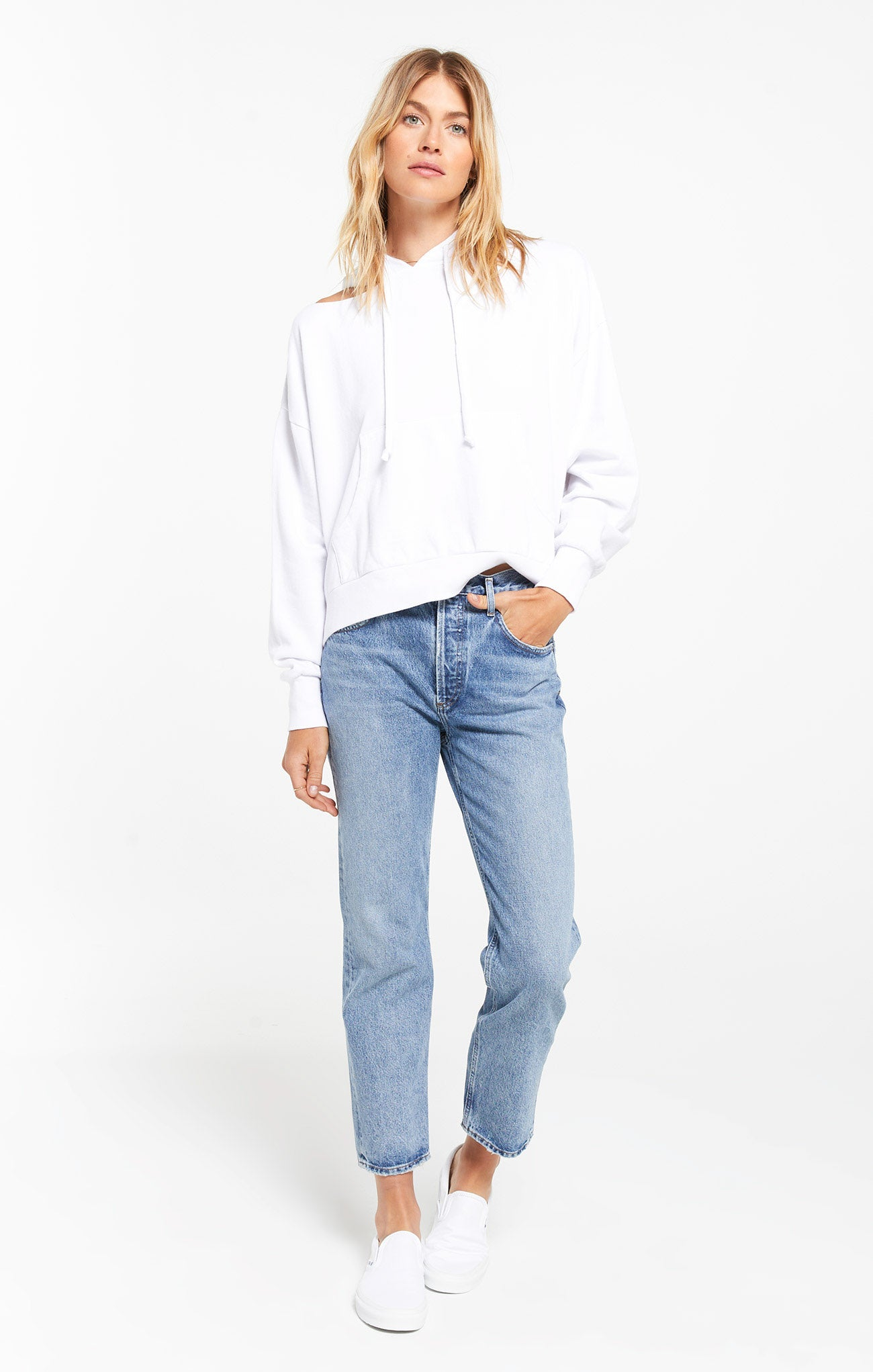 Tops Jerri Cut-Out Terry Sweatshirt Jerri Cut-Out Terry Sweatshirt