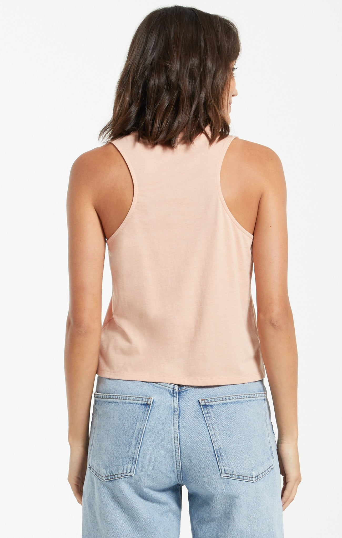 Tops Skimmer Pocket Tank Soft Peach