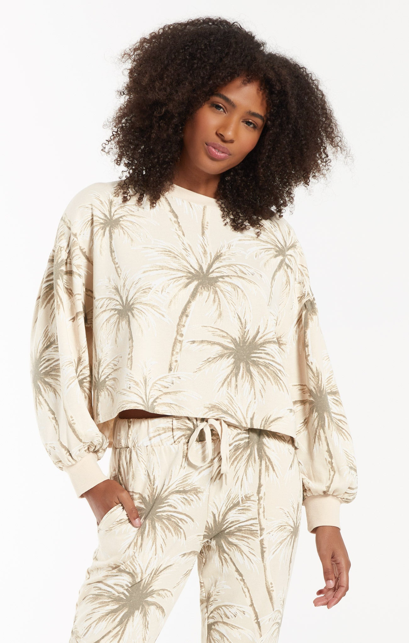 Tops Coconut Palm Tempest Pullover Grey