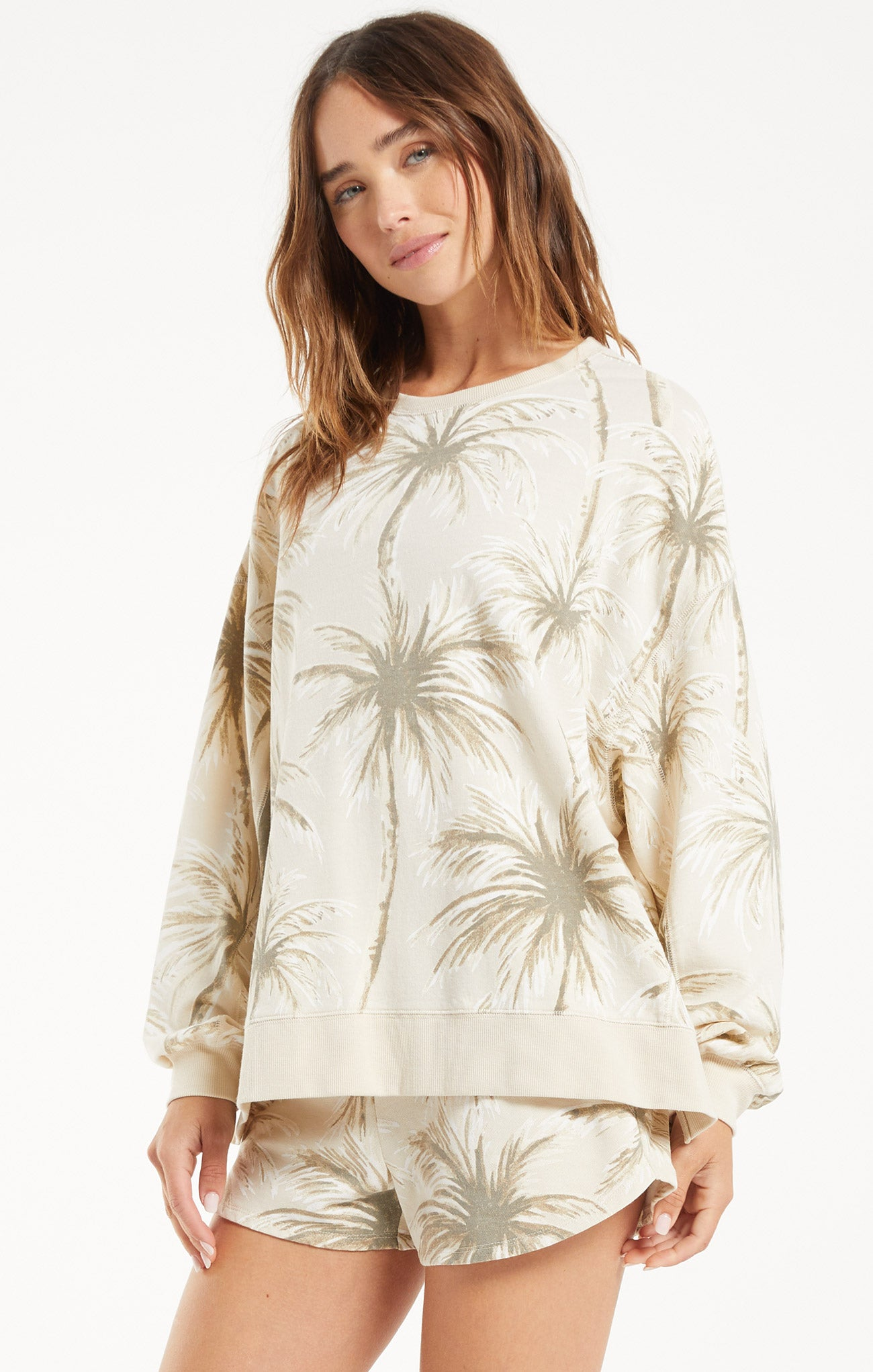 Tops Modern Coconut Palm Weekender Grey