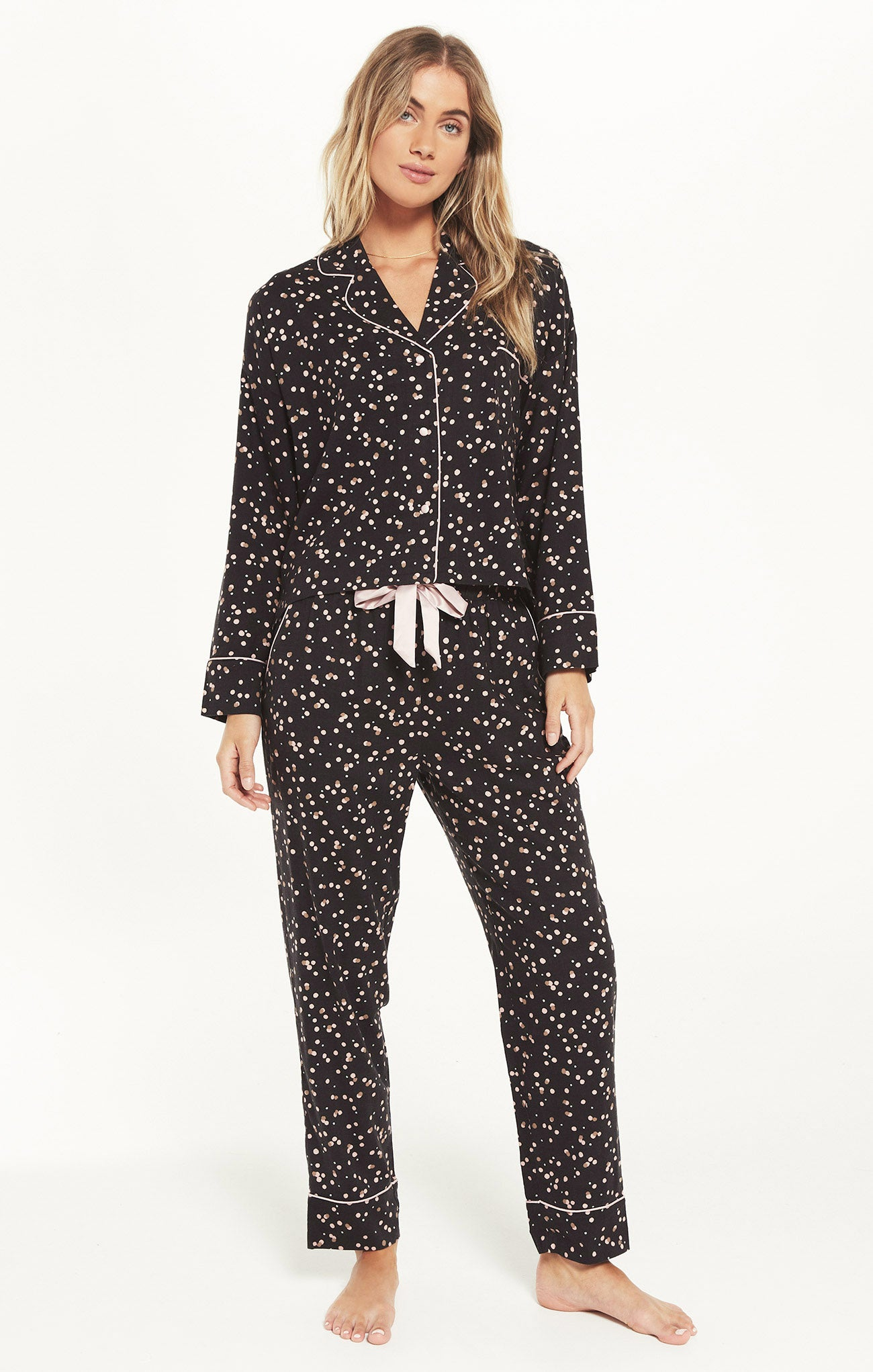 Tops Dream State Sprinkle PJ Set Coal