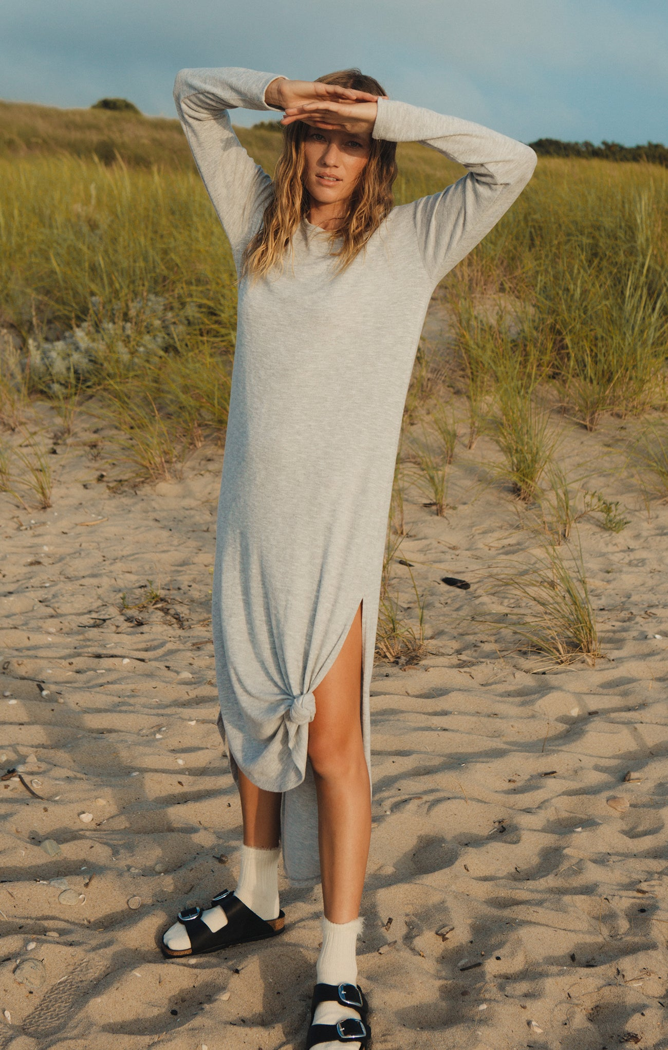 Dresses Ray Slub Sweater Dress Heather Grey