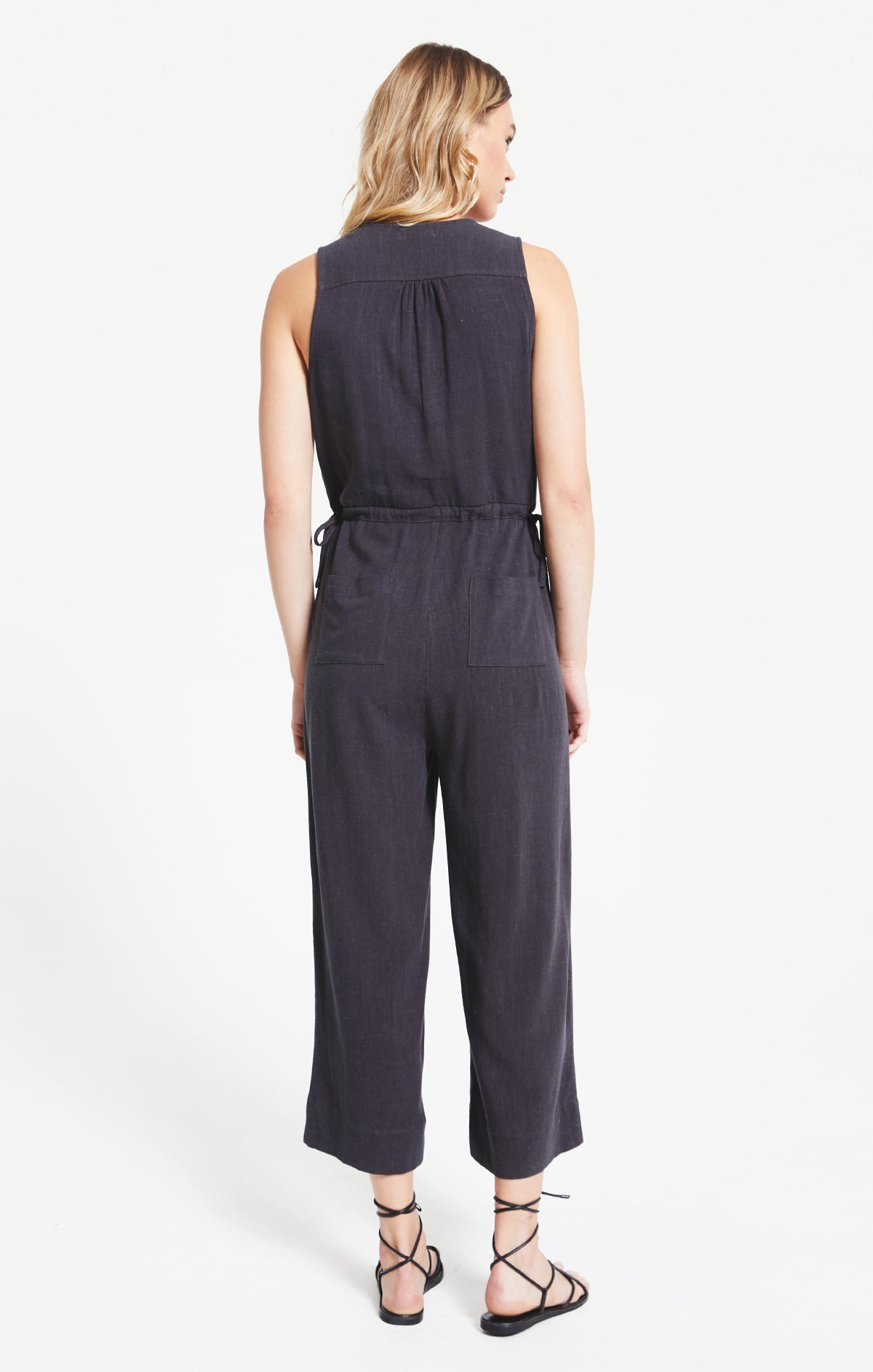 Pants Rapollo Jumpsuit by Rag Poets Washed Black