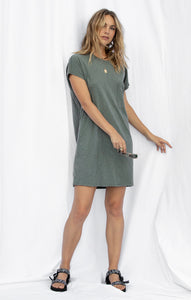 DressesPia Slub Dress Ash Green