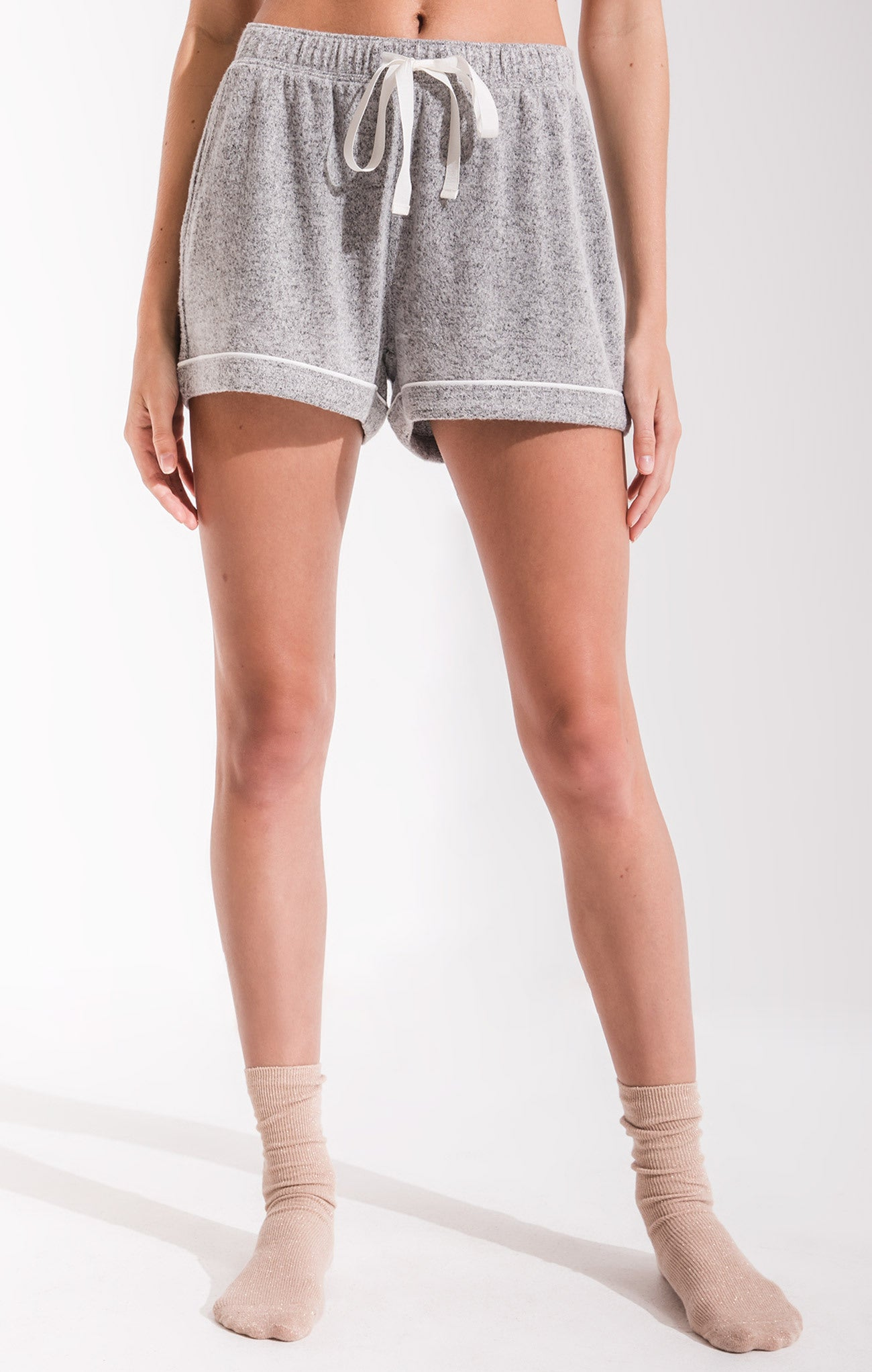 Shorts Luxe Menswear Pajama Shorts Heather Grey