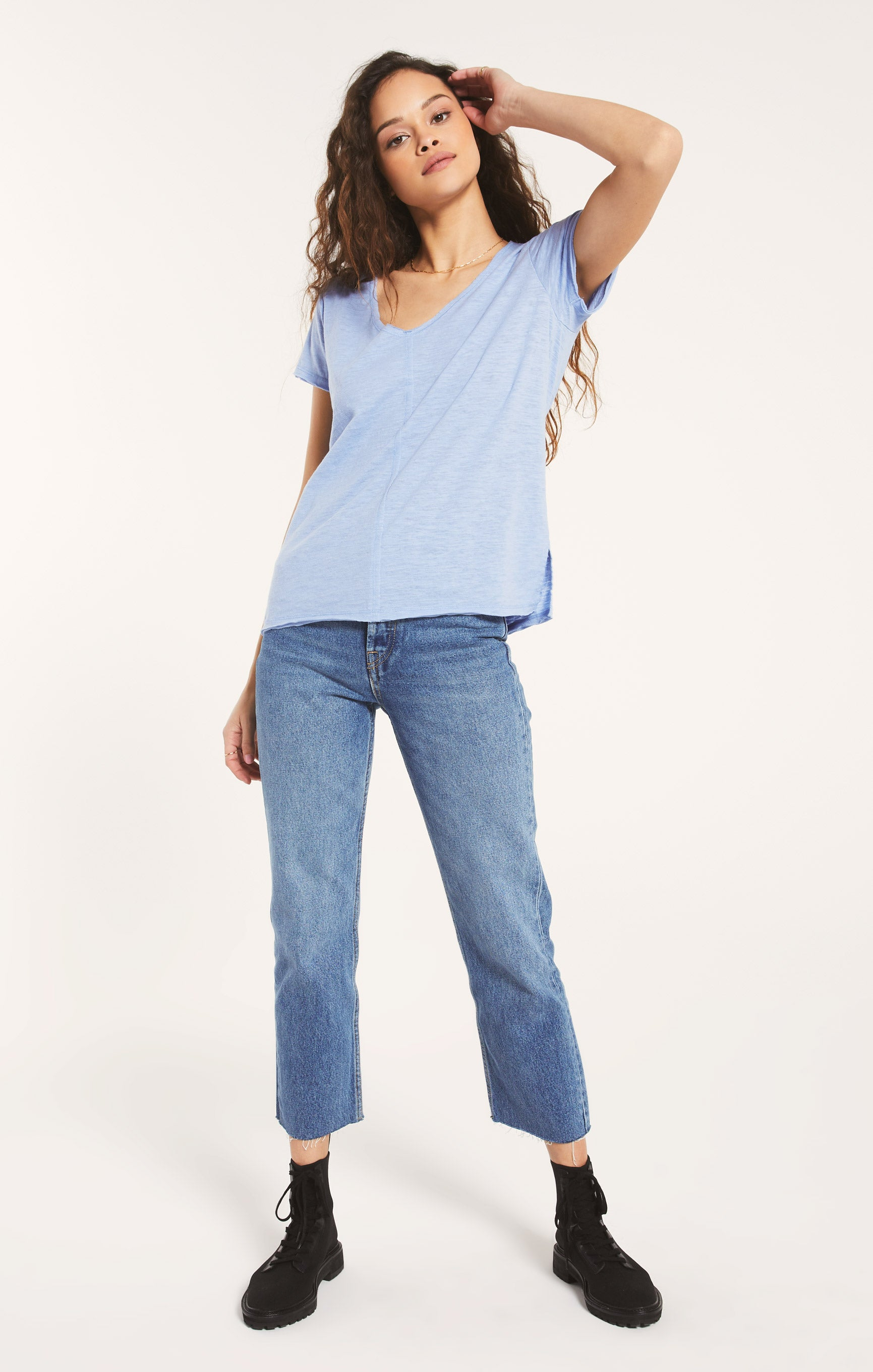 Tops Airy Slub Chaparral Tee Forever Blue
