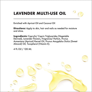 Provence Beauty Lavender Scented Multi-Use Oil for Face, Body & Hair - 4 oz-Multi-purpose -Provence Beauty Skincare