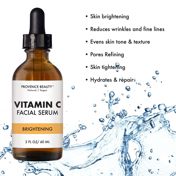 VITAL ESSENTIAL FACIAL SERUM - BRIGHTENING VITAMIN C (2 OZ)-Facial Oil -Provence Beauty Skincare