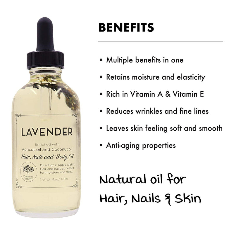 MULTI-USE OIL: LAVENDER (4 OZ)-Multi-purpose -Provence Beauty Skincare