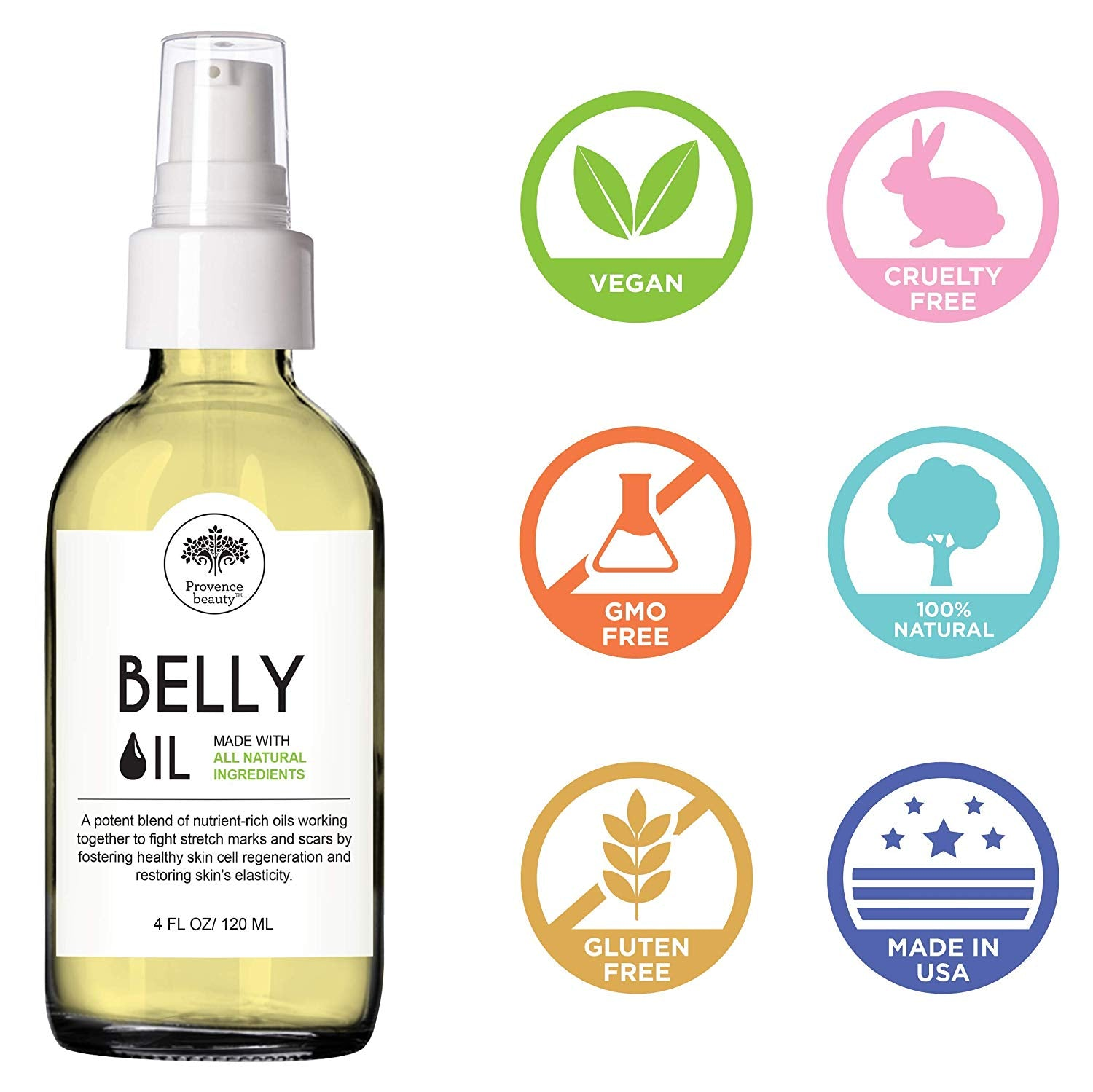 BELLY OIL - Stretch Mark Reduction Therapy - Provence Beauty