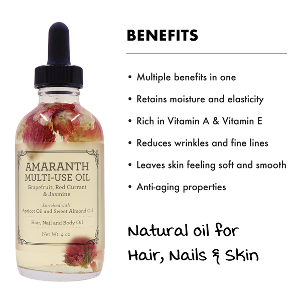 MULTI-USE OIL :  AMARANTH (4 OZ)-Multi-purpose -Provence Beauty Skincare