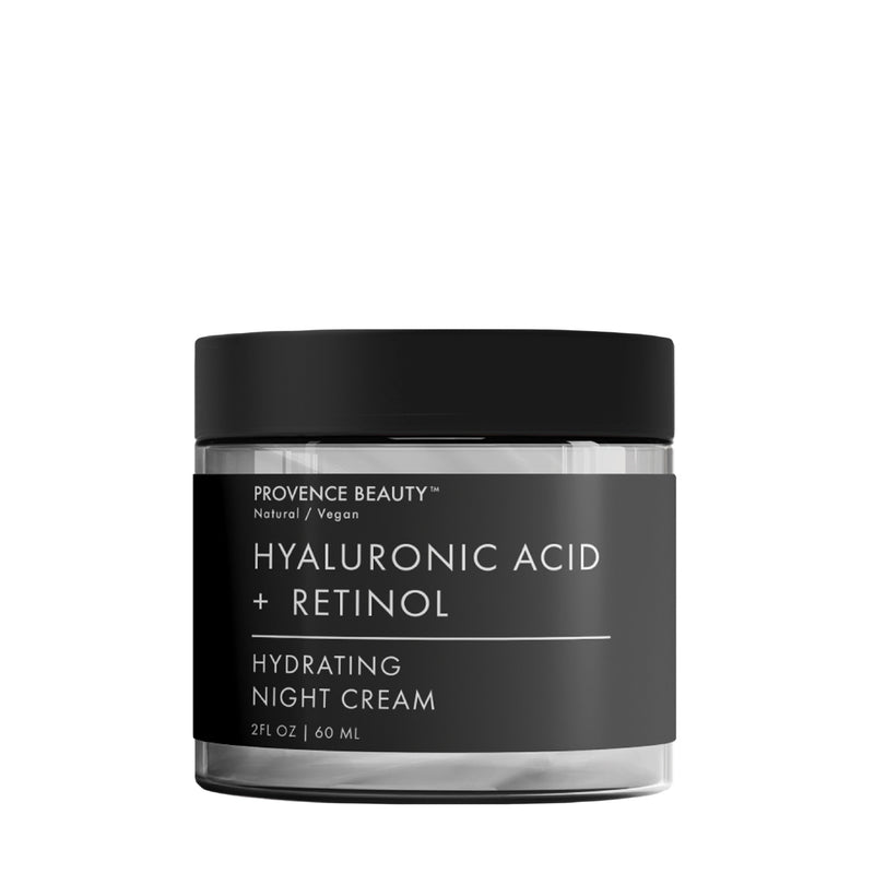 NIGHT CREAM | HYALURONIC ACID + RETINOL- -Provence Beauty Skincare