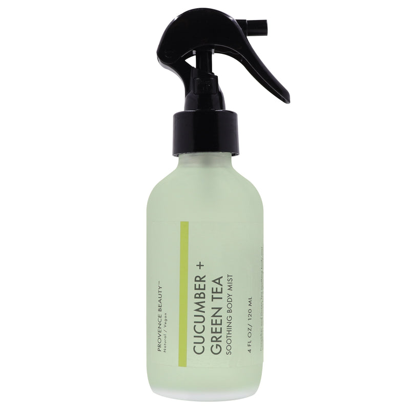 BODY MIST - CUCUMBER + GREEN TEA | SOOTHING-Body Mist -Provence Beauty Skincare