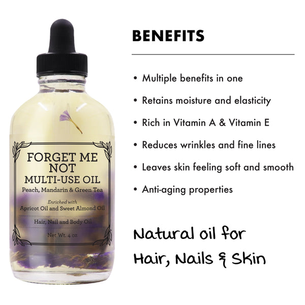 MULTI-USE OIL - FORGET ME NOT (4oz)-Multi-purpose -Provence Beauty Skincare