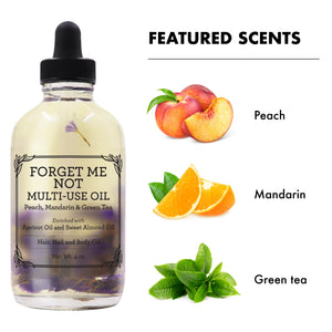 Provence Beauty FORGET ME NOT Scented Multi-use Oil for Hair, Skin and Nails - Moisturizing and Hydrating (4oz))-Multi-purpose -Provence Beauty Skincare