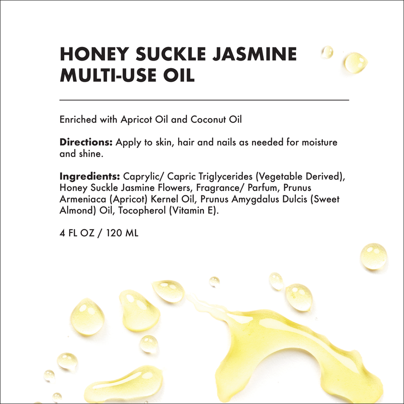 MULTI-USE OIL - HONEY SUCKLE JASMINE (4 OZ)-Multi-purpose -Provence Beauty Skincare
