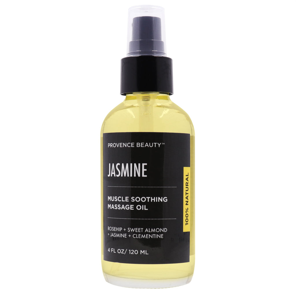 MUSCLE SOOTHING MASSAGE OIL - JASMINE-Body Skincare -Provence Beauty Skincare