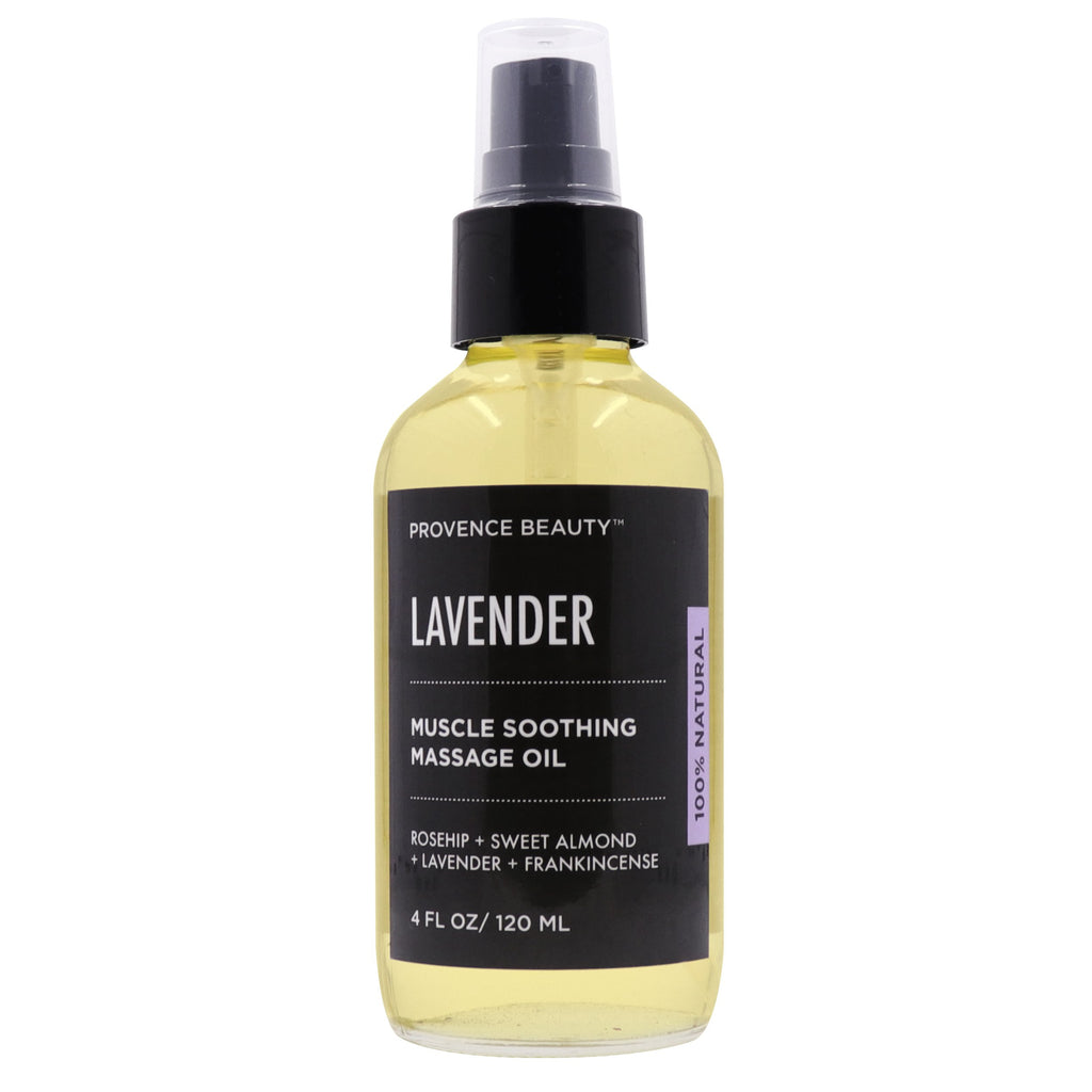 MUSCLE SOOTHING MASSAGE OIL - LAVENDER-Body Skincare -Provence Beauty Skincare