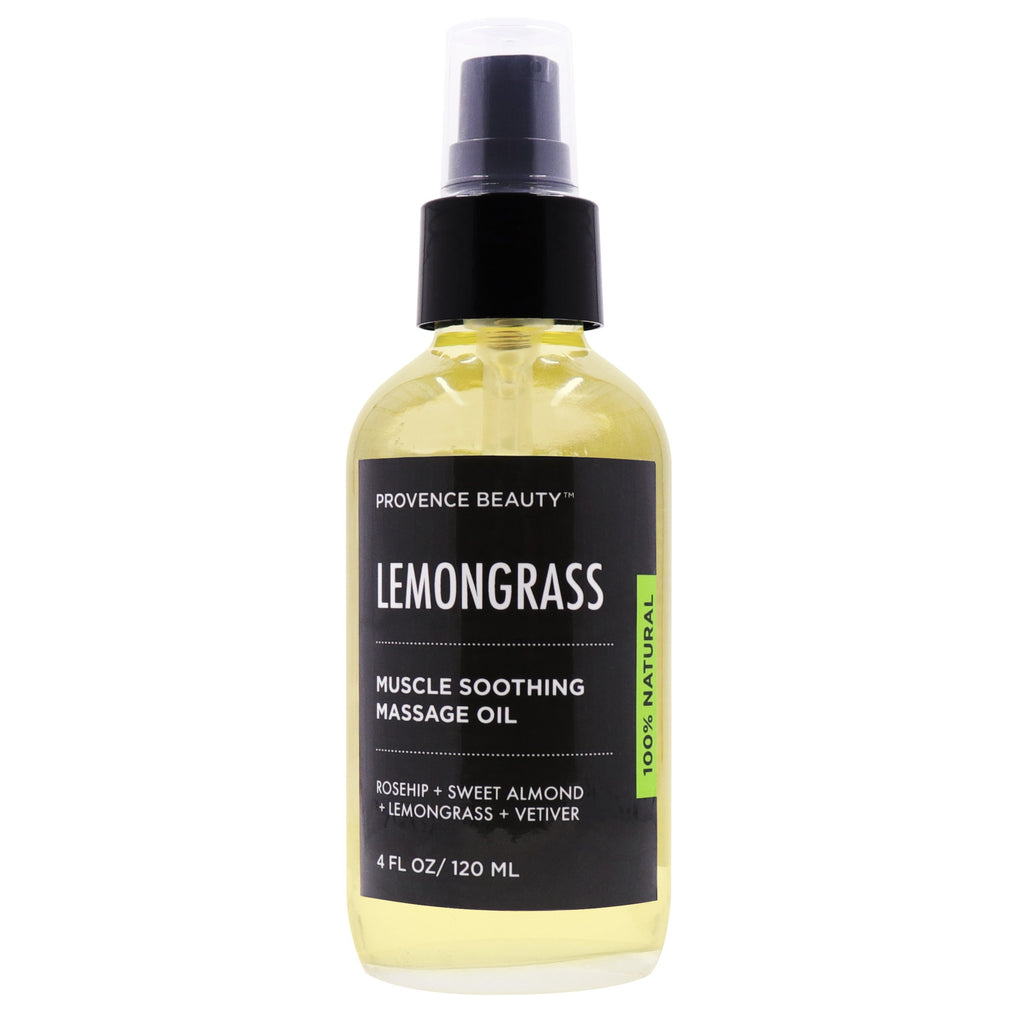 MUSCLE SOOTHING MASSAGE OIL - LEMONGRASS-Body Skincare -Provence Beauty Skincare