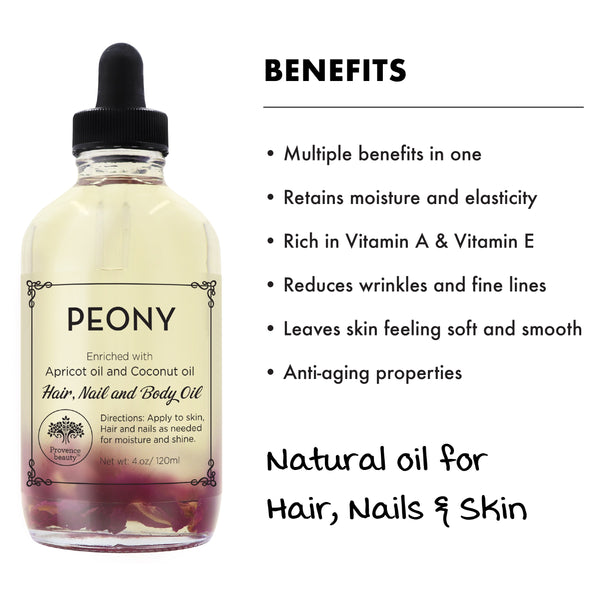 MULTI-USE OIL: PEONY (4 OZ)-Multi-purpose -Provence Beauty Skincare