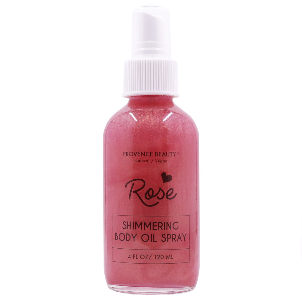 SHIMMERING BODY OIL - ROSE-Body Skincare -Provence Beauty Skincare