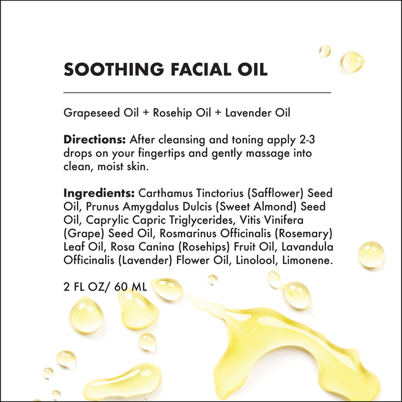 FACIAL OIL - 3 VARIETIES (Brightening, Firming & Soothing) -  2 OZ-Facial Oil -Provence Beauty Skincare