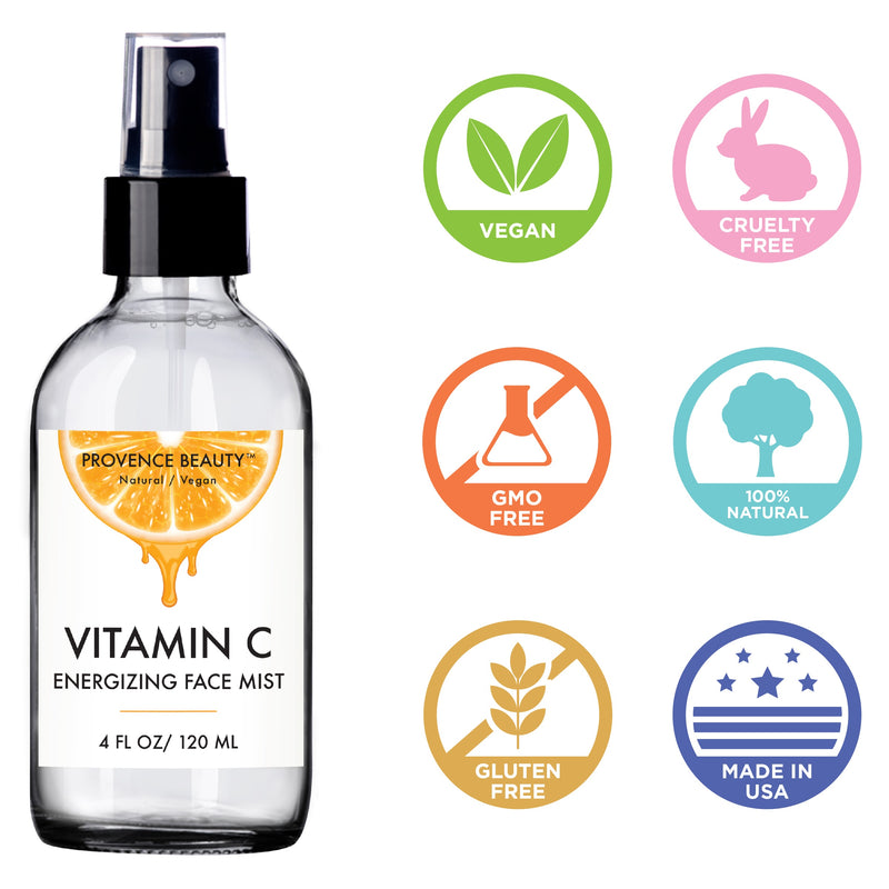 FACIAL MIST - VITAMIN C ENERGIZING (4 OZ)-Facial Mist -Provence Beauty Skincare
