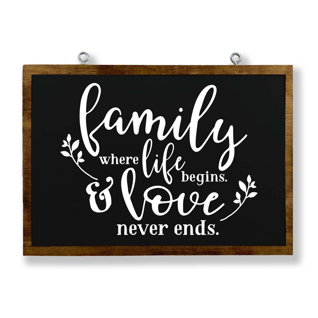 Family: Where Life Begins & Love Never Ends