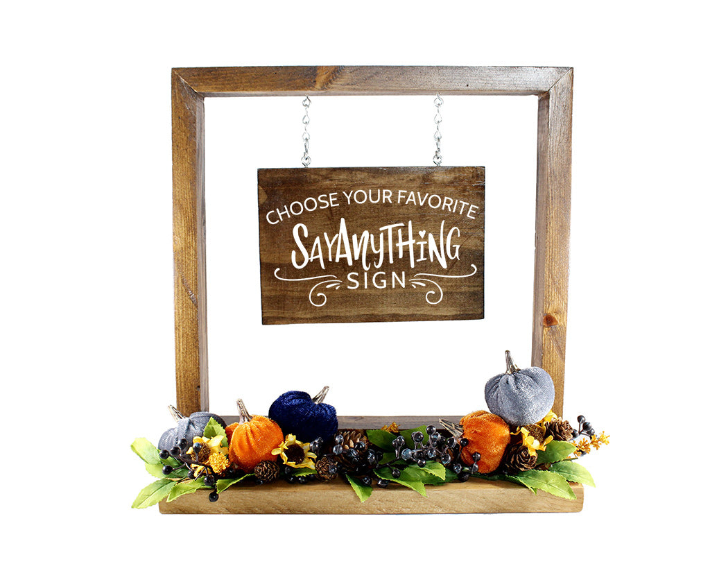 Navy Pumpkin Patch Embellishment Base